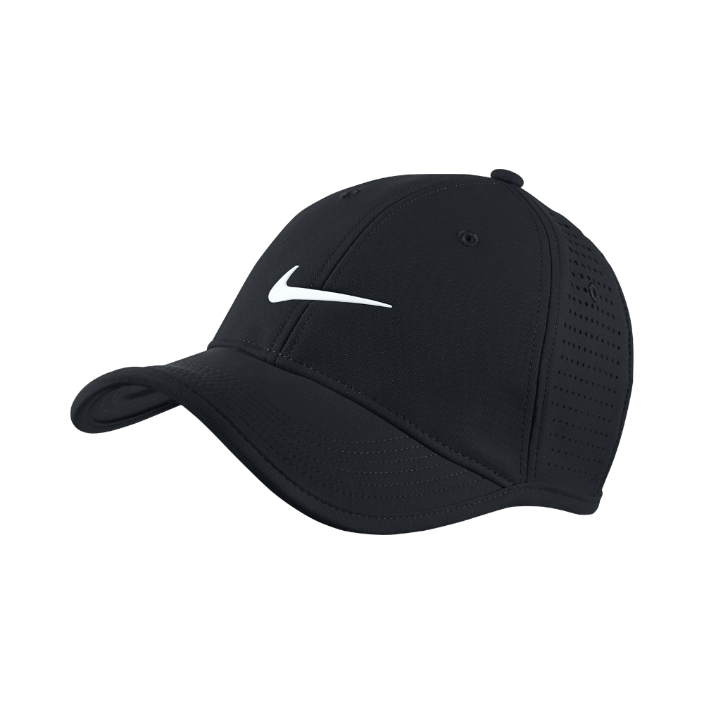 Nike Ultralight Tour Perforated Adjustable Golf Hat (Black ... 802d77ebfb22