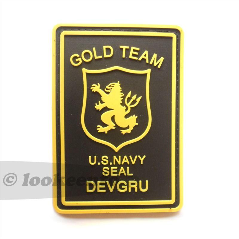 Us Navy Seals Team 6 Gold Team Devgru Pvc Rubber 3d Velcro Patch