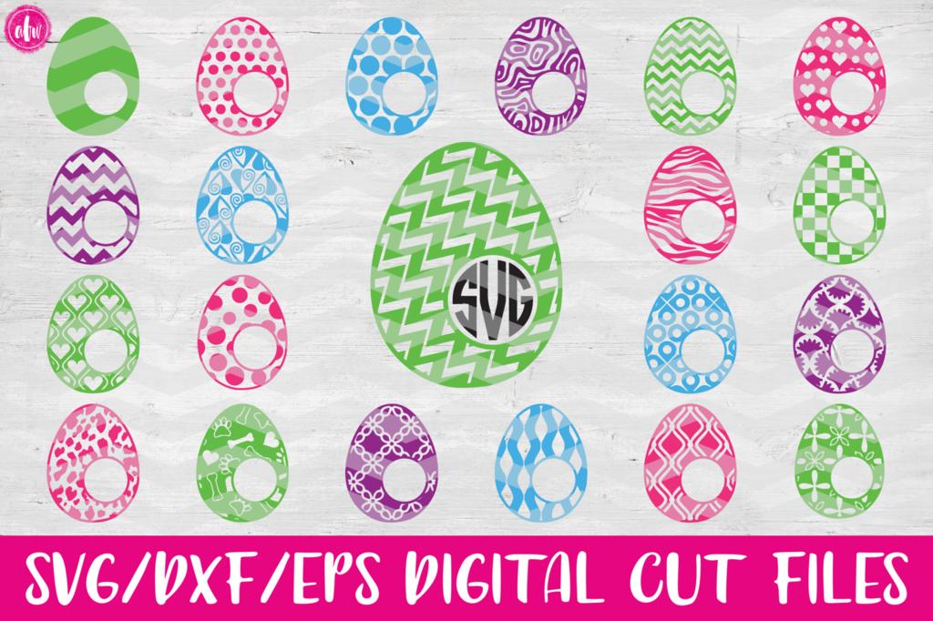 Monogram Easter Eggs Bundle 40 Svg Dxf Eps Monogrammed Easter Eggs Easter Egg Designs Egg Designs