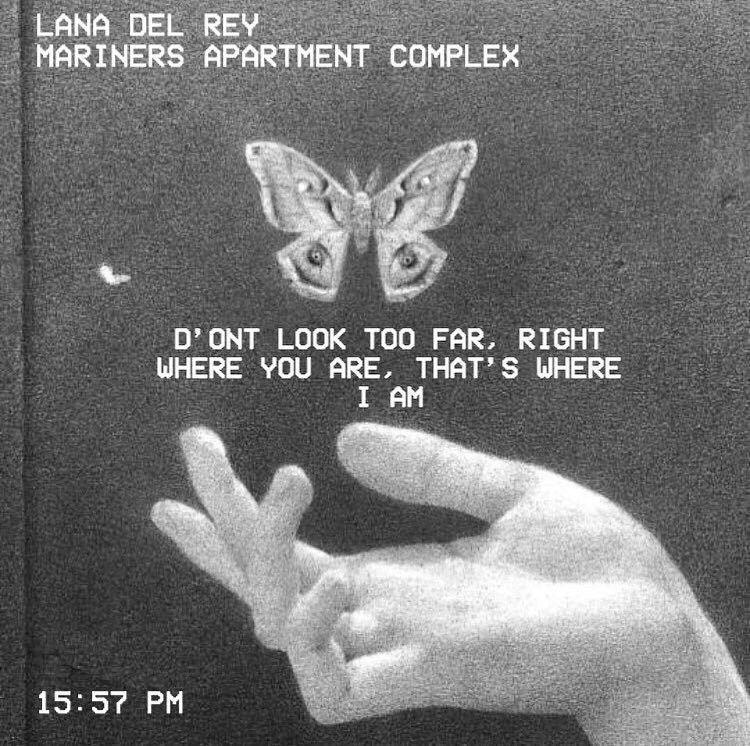 Mariners Apartment Complex Lyric: Mariners Apartment Complex // Lana Del Rey