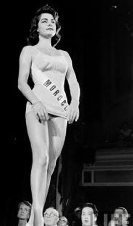 Jacqueline Dorella Bonilla, représentante du Maroc à la Miss Univers de 1957. / Ph. DR