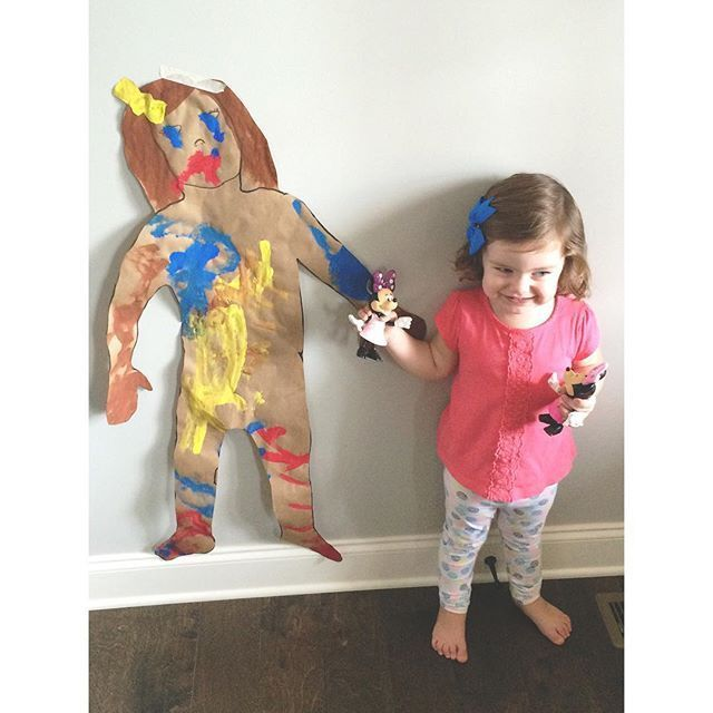 All About Me Painting Activity For Toddlers