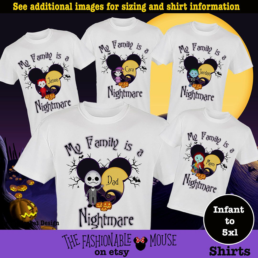 Nightmare Shirt, Nightmare Before Christmas Shirt, Jack Skellington ...