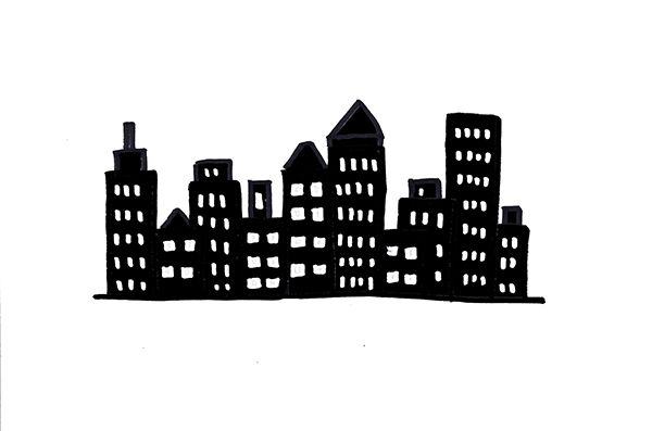 How To Draw A City Skyline 3 Ways City Drawing Skyline Art Sharpie Drawings
