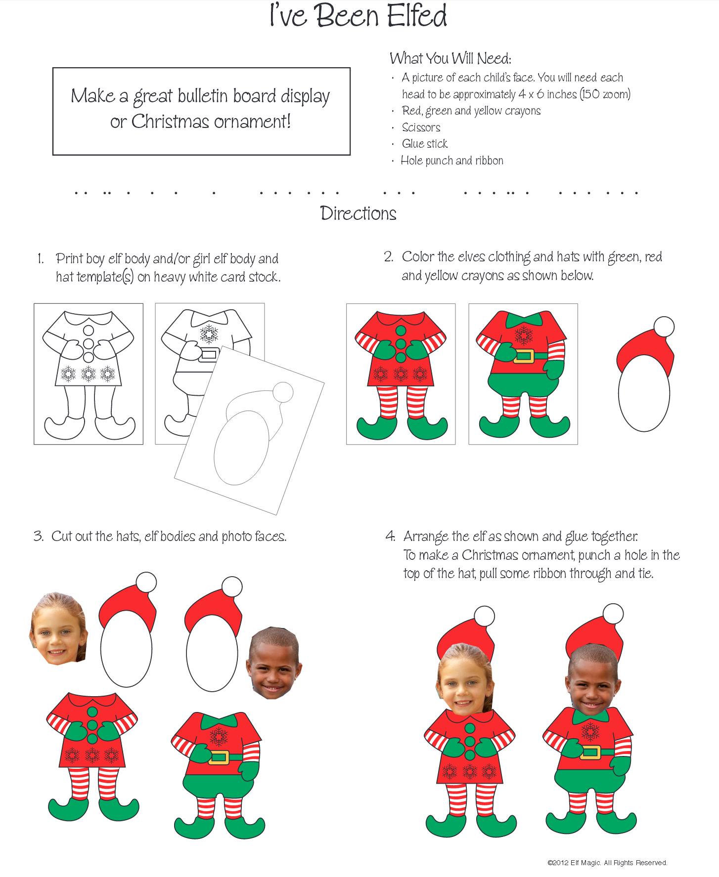 Elf Head Cut Outs Www Topsimages Com