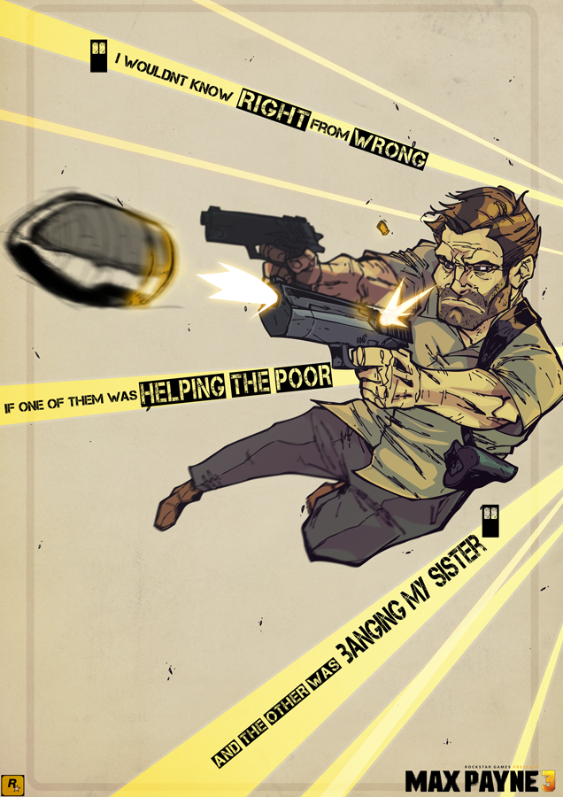 Digital Sketchbook Max Payne 3 Max Payne Max Payne 3 Black Comics