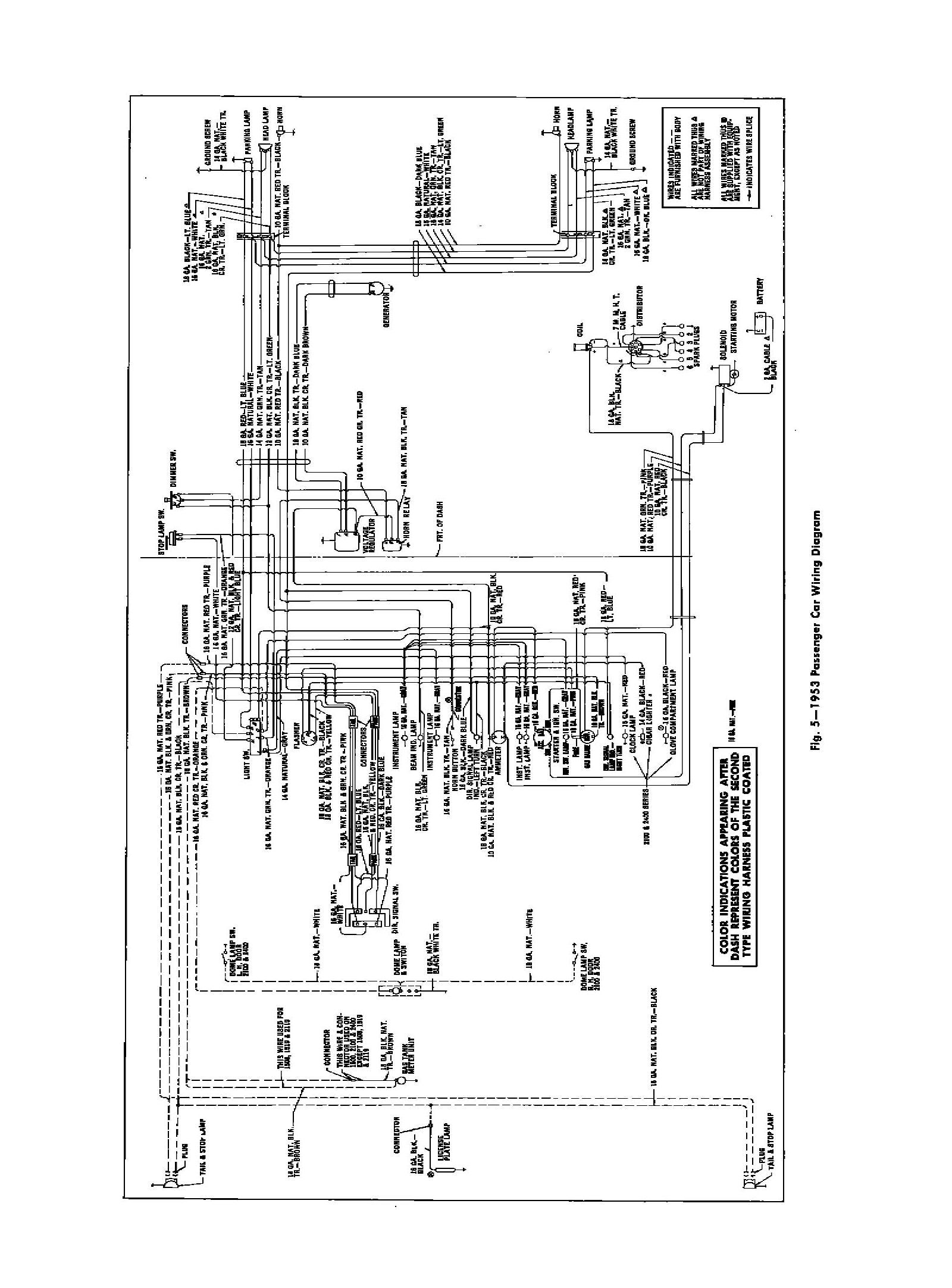 medium resolution of 1953 bel air wiring diagram
