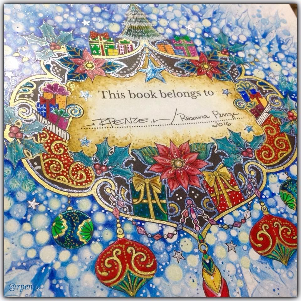 Johanna Basford Christmas Coloring Book.Pin By Suzanne Dziendziel On A Johanna Christmas In 2019
