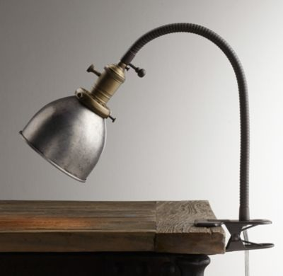 RH baby&child's Industrial Era Task Clip Lamp Pewter:Our take on ...