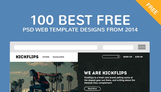 100 Best Free PSD Website Templates 2014 CSS Author Free PSD