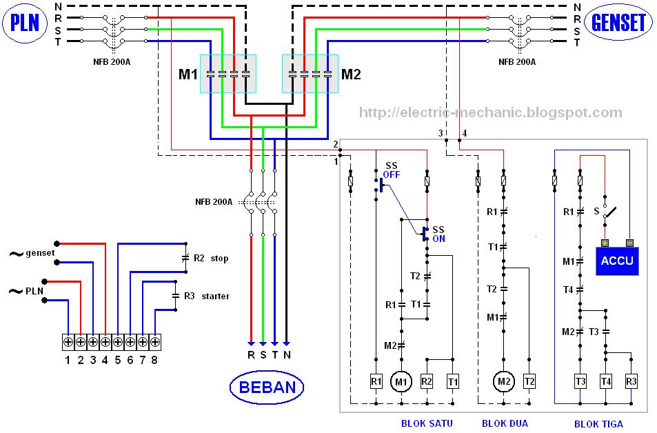 Amf Panel Wiring Diagram Pdf Membuat Panel Amf Ats Switch Genset Otomatis Electrik