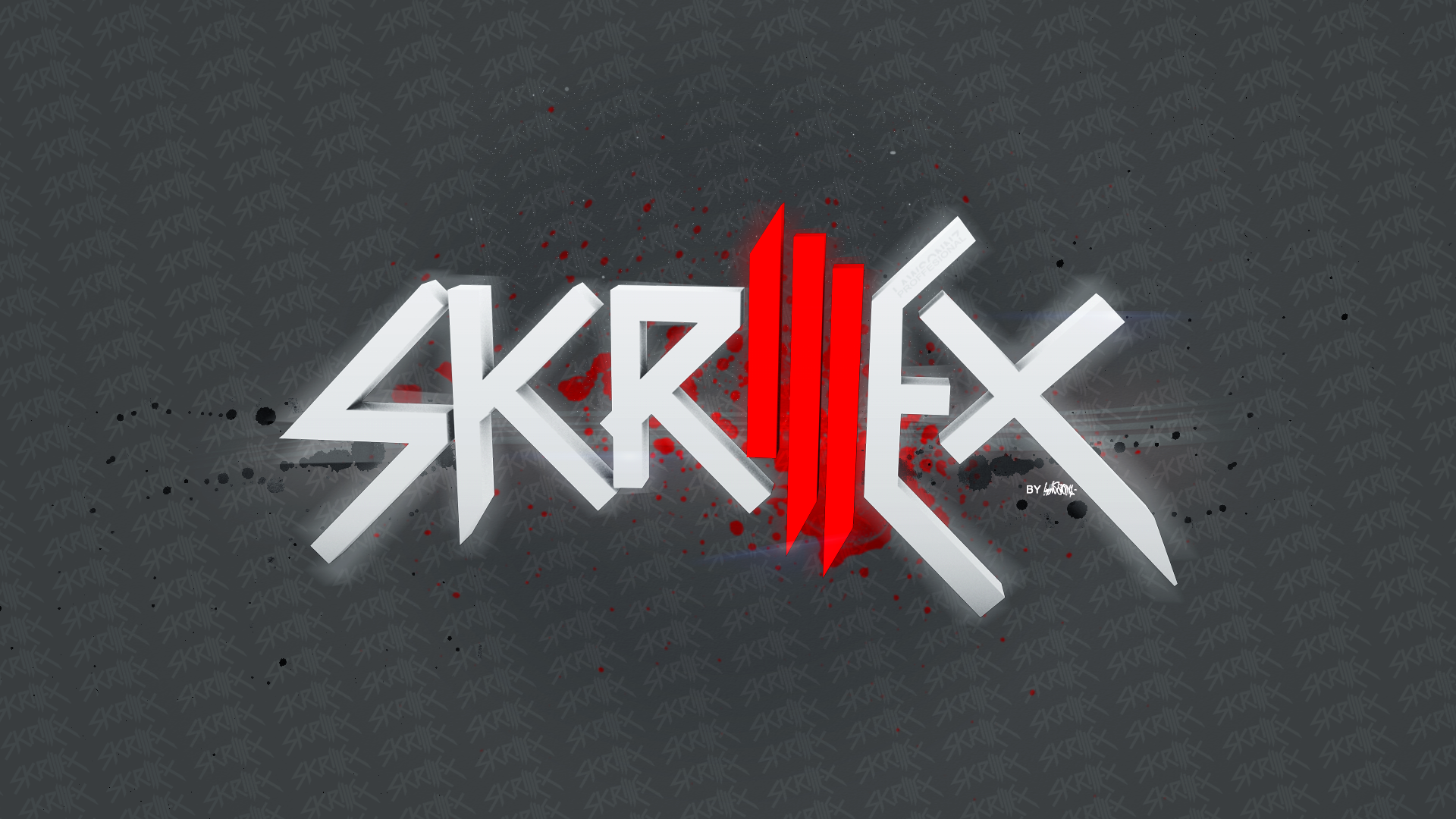 How To Create Bloody Dripping Skrillex Wallpaper Photoshop