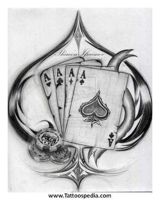 4 Aces Tattoo : tattoo, Tattoo, Designs, Tattoospedia, Design, Ideas, Tattoo,, Designs,, Poker