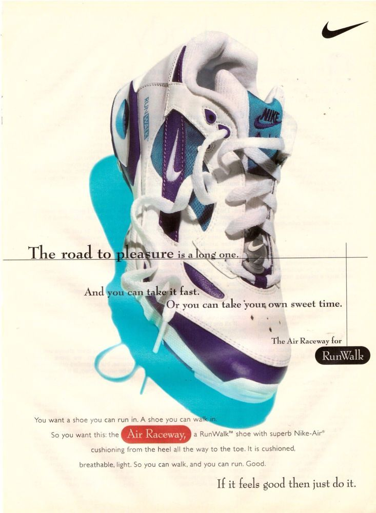 2bf5d41191a 1995 Nike Air Raceway Running Shoes Retro Print Ad Vintage Advertisement  VTG 90s