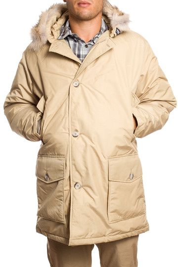 Woolrich Men's Fur Collar Anork