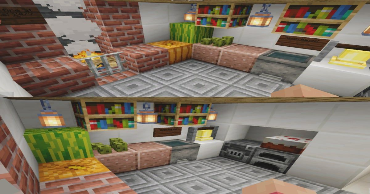 Cafe Kitchen Minecraft With Images Home Decor Loft Bed