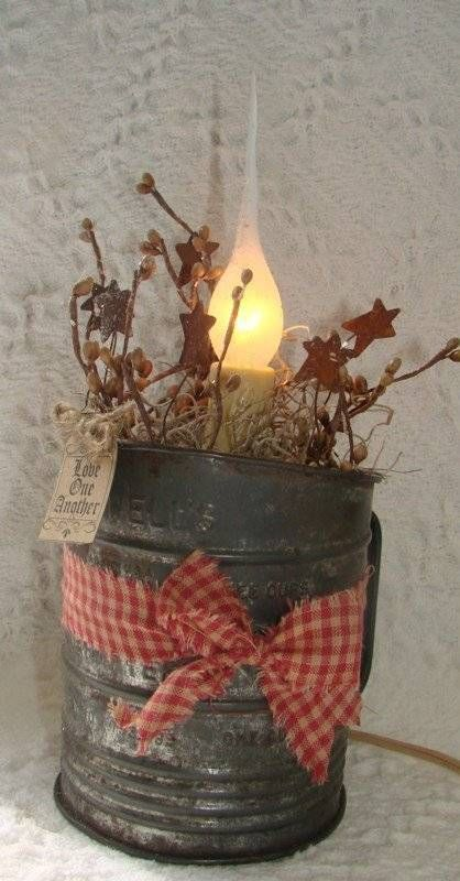 Vintage Bromwell Sifter Primitive Gathering Farmhouse Country Love One Another Ebay Primitive Decorating Christmas Table Centerpieces Primitive Christmas
