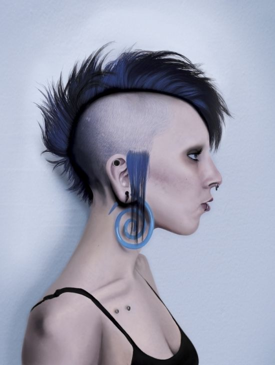 Image Result For Mohawk Punk Mohawk Hairstyles For Women Mohawk Hairstyles Lizard Haircut