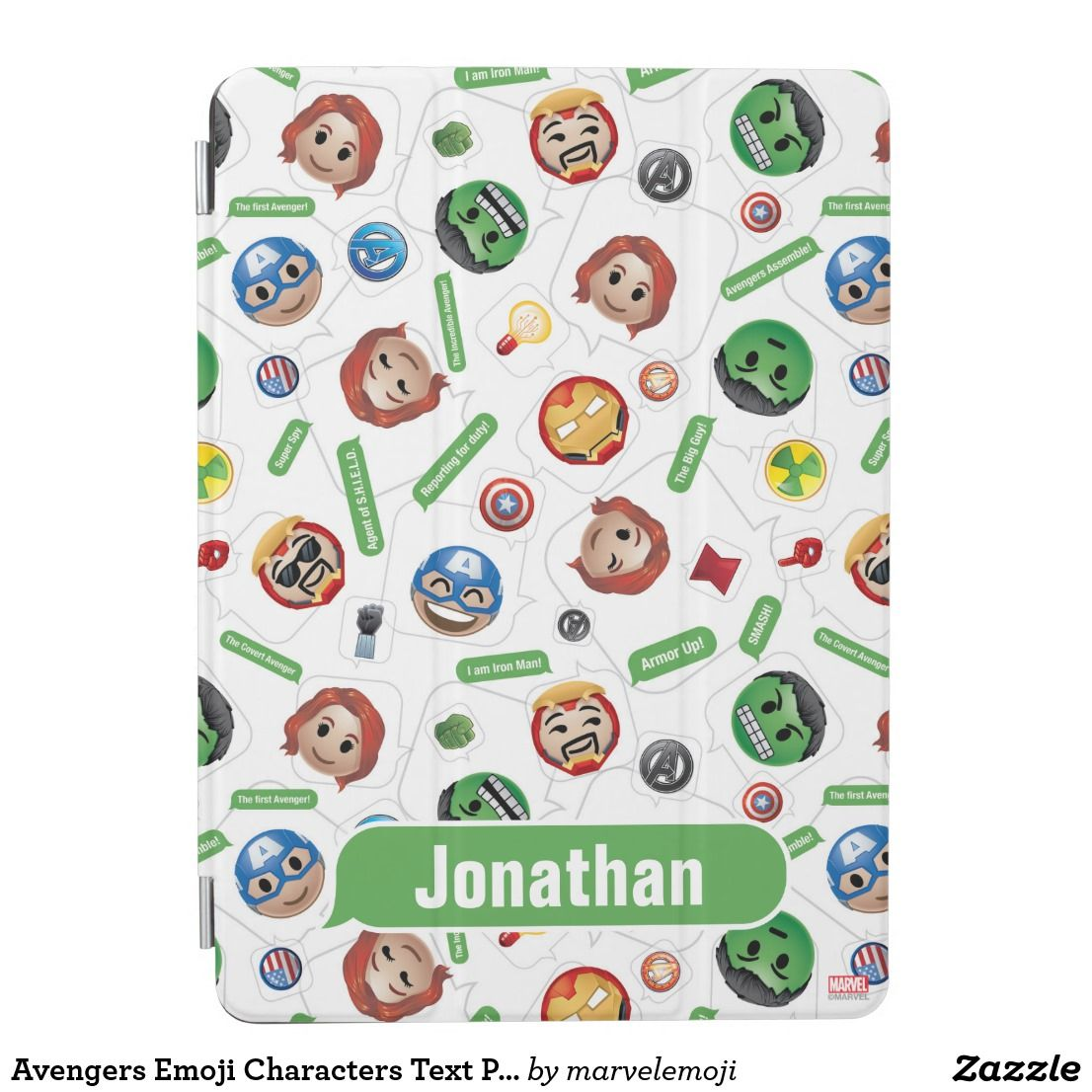 Avengers Emoji Characters Text Pattern iPad Air Cover