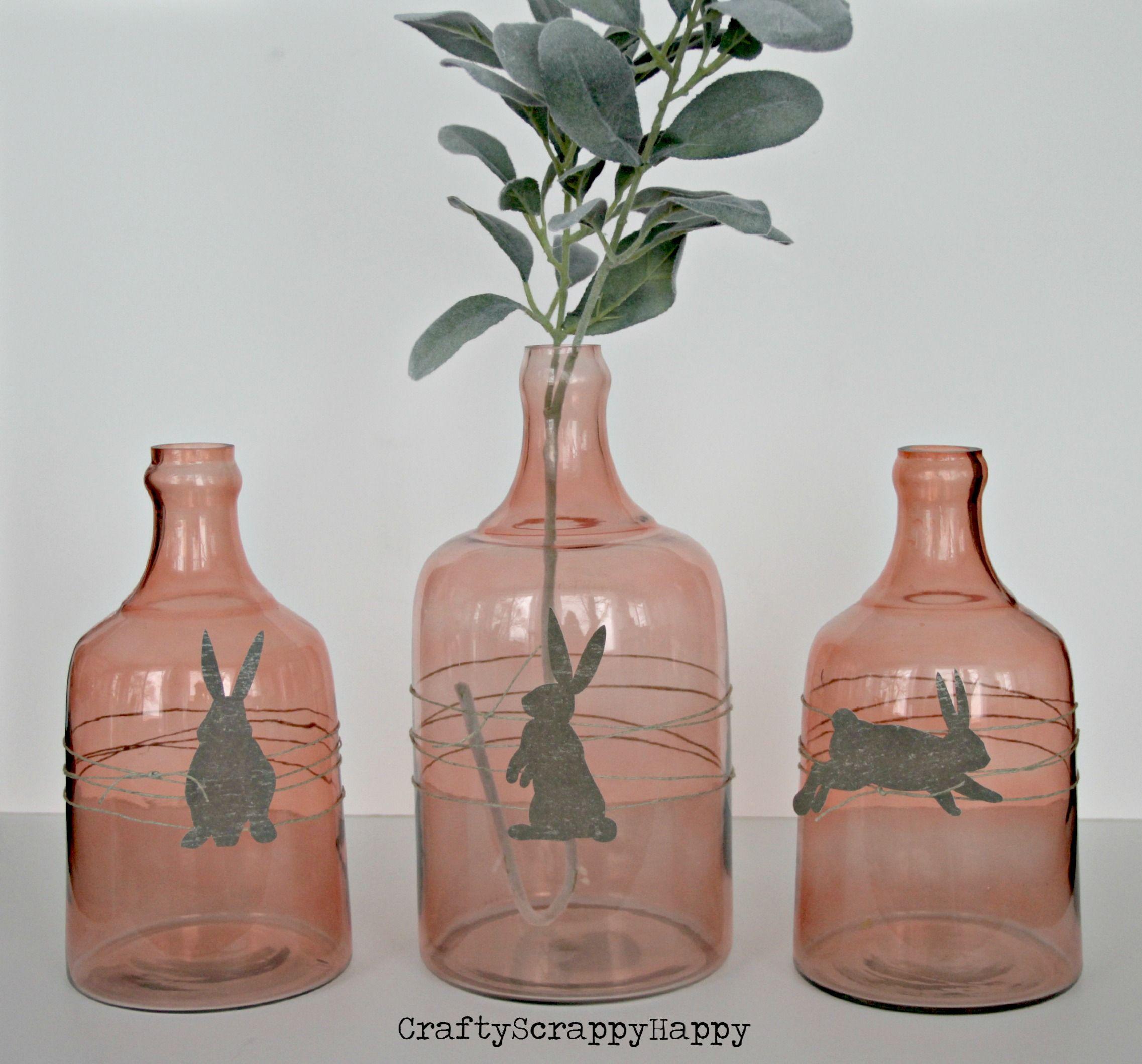 A simple Easter DIY, bunny silhouette embellishments via Crafty Scrappy Happy