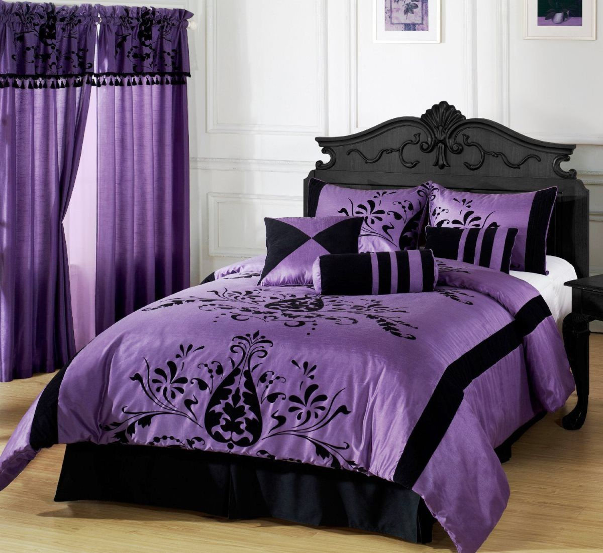 Superieur Simple Black White And Purple Bedroom Ideas