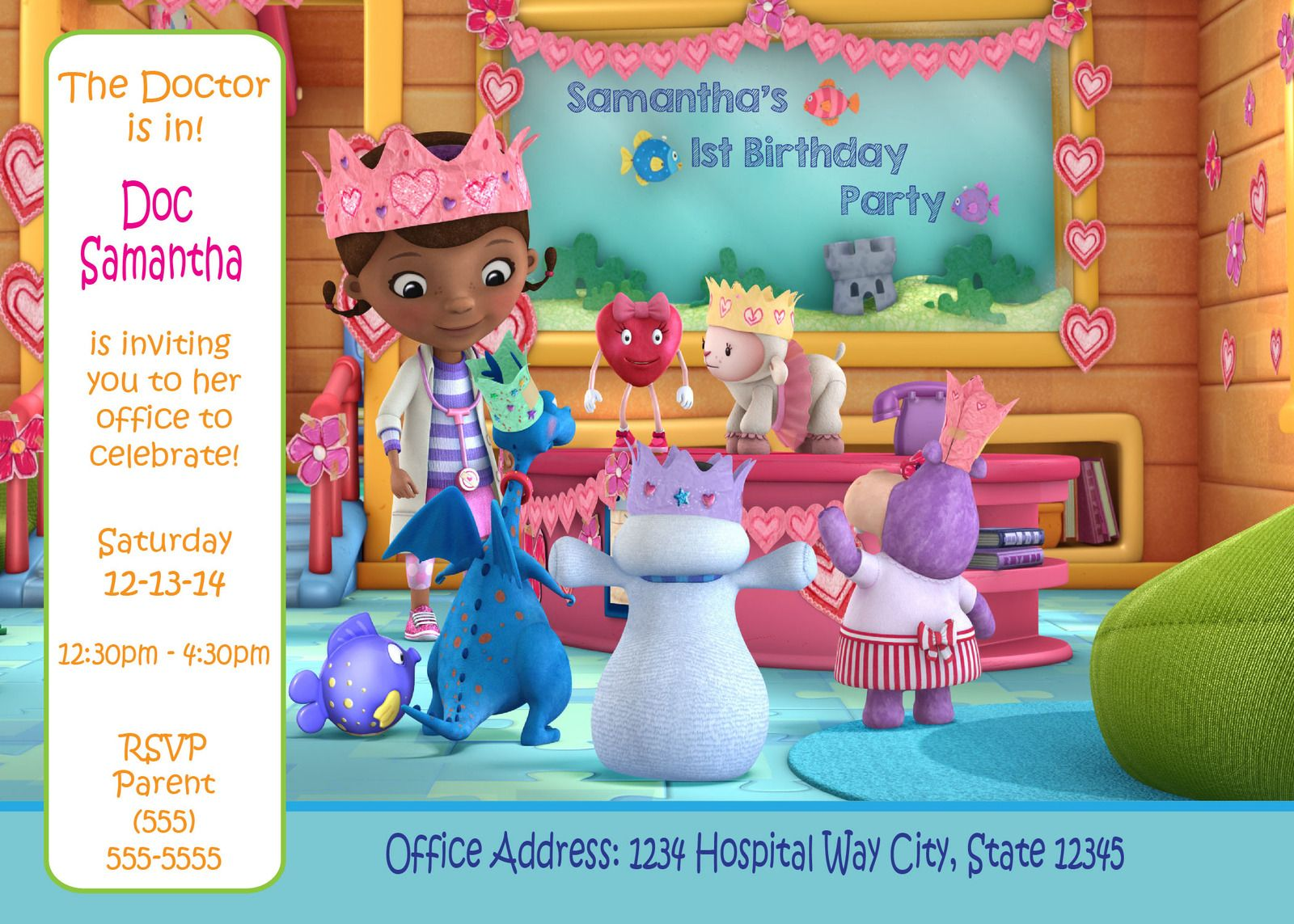 Disney\'s Doc McStuffins - Digital Birthday Invitation   Disney jr