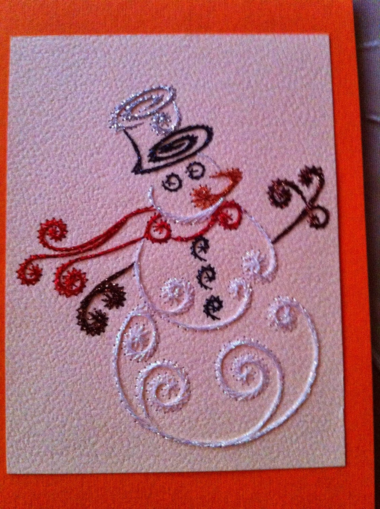 Photo Paper embroidery, Embroidery cards pattern