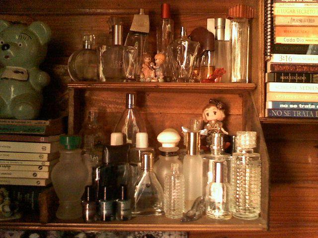 Mi colección de frascos de perfumes