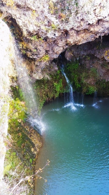 Dripping Springs Trail U0026 Waterfall At Natural Falls State Park In Colcord,  ...