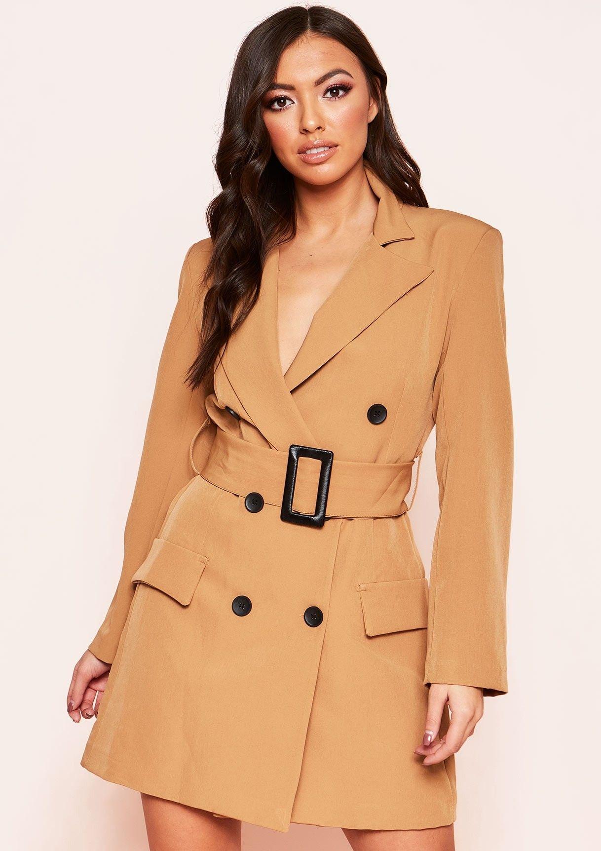 5d6e80ba99a8e Leandra Camel Belted Blazer Dress in 2019 | TREND REPORT FEB 2019 ...