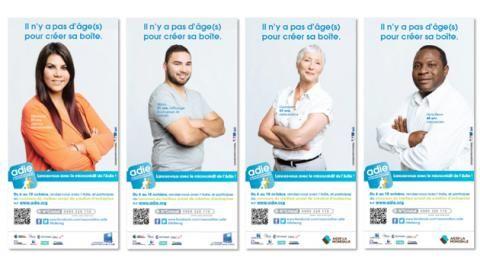 #Adie microcrédit #entrepreneurs. Concours pour aider les jeunes et les seniors à créer leur société.