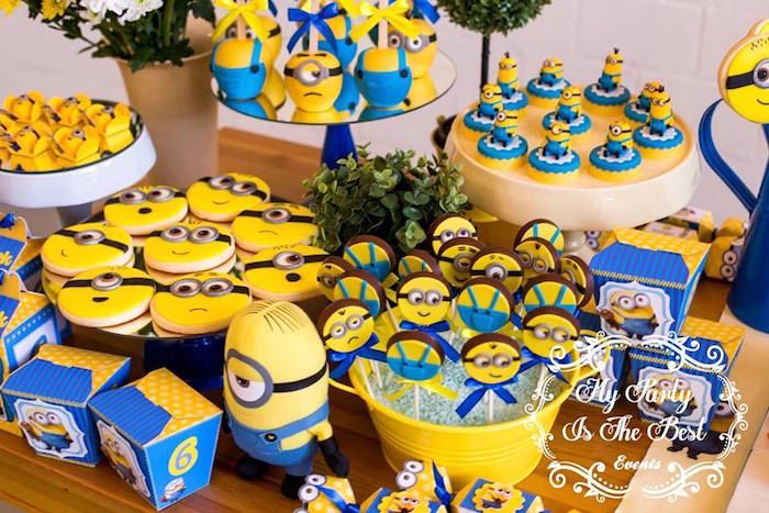 Sweets From Minions Birthday Party At Karas Ideas See More Karaspartyideas