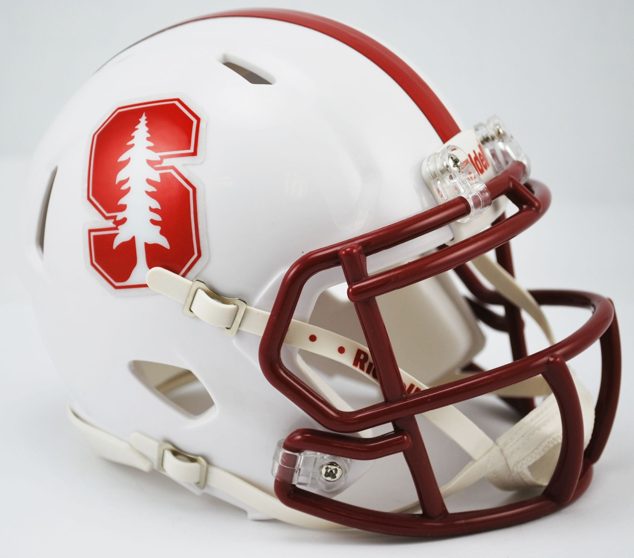 Stanford Cardinal Riddell Mini Speed Helmet Chrome Decal 2015 Football Helmets Mini Footballs Mini Football Helmet
