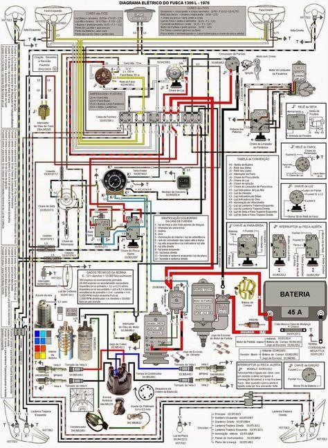 Diagrama De Trabalho Fusca 1976