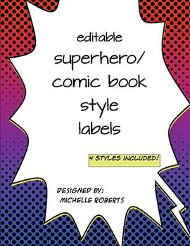 superhero classroom labels editable super classroom pinterest