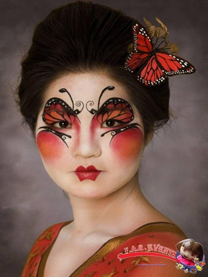 papillon maquillage Cirque du soleil, Maquillage