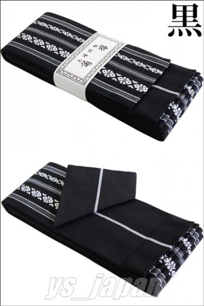 Japanese Men's Traditional KAKU OBI Kimono Belt 100% Cotton Made in Japan F/S   eBay