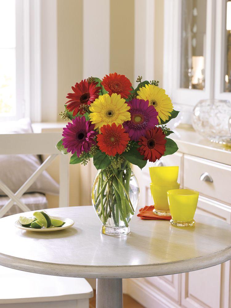 Teleflora's Gerbera Brights Birthday flowers bouquet