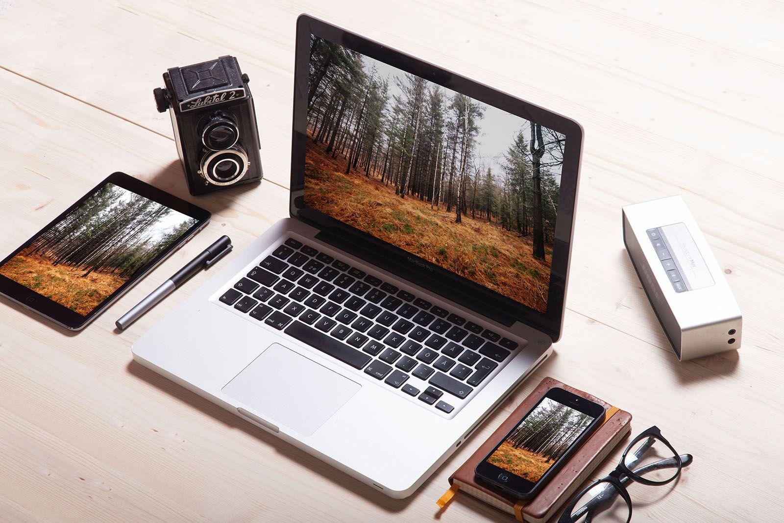Macbook Ipad Iphone Vintage Camera Vintage Camera Iphone Macbook Free Stock Photos Image
