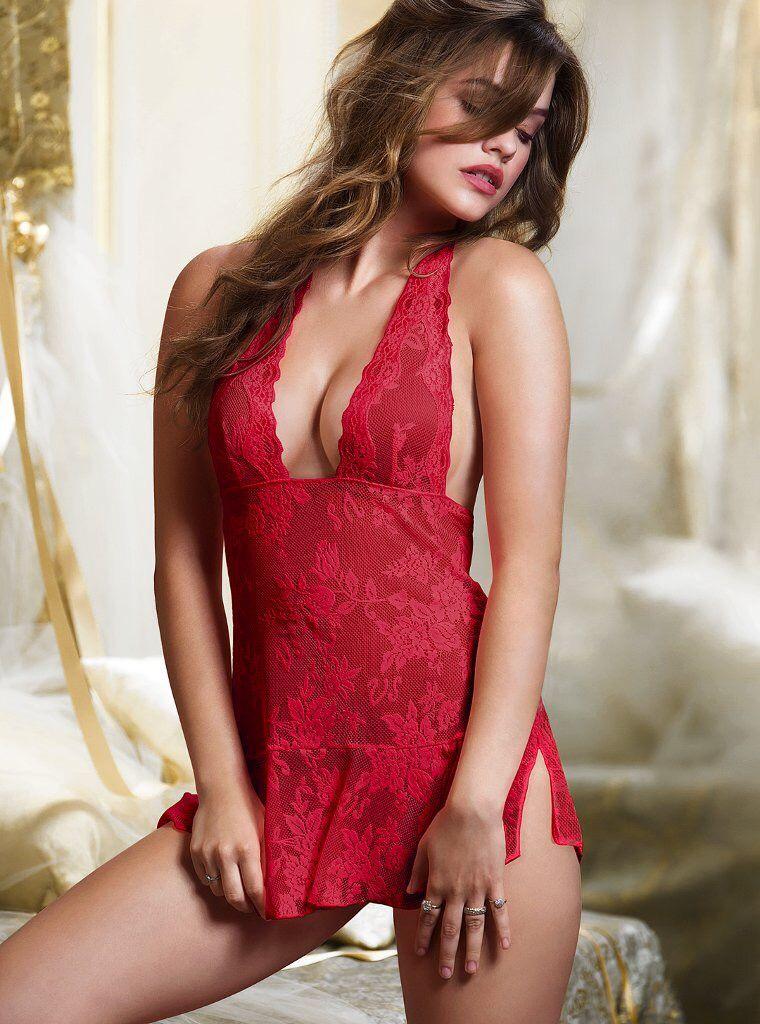 lingerie red Barbara palvin