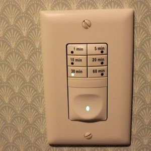 bathroom exhaust fan with light and