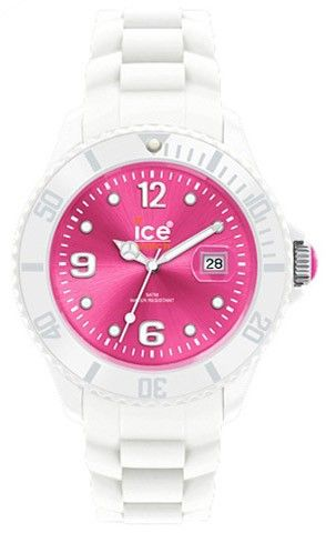 Ice-watch Womens Sili Forever Plastic Watch - White Bracelet - Pink Dial - Si.wp.s.s.10