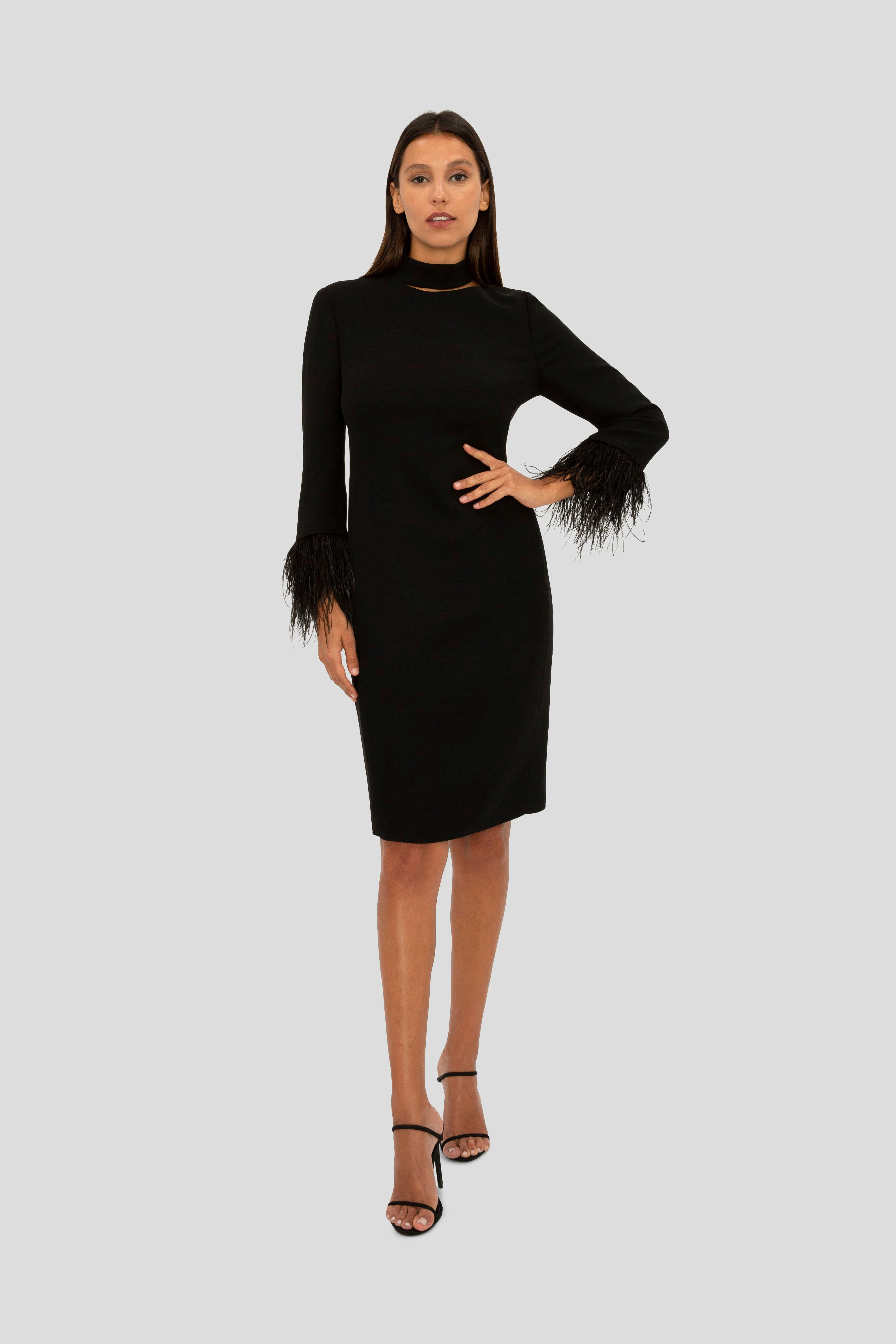 Black Feather Trim Mini Dress Missguided Mini Dress Black Feather Dress 70s Inspired Fashion [ 2607 x 1800 Pixel ]