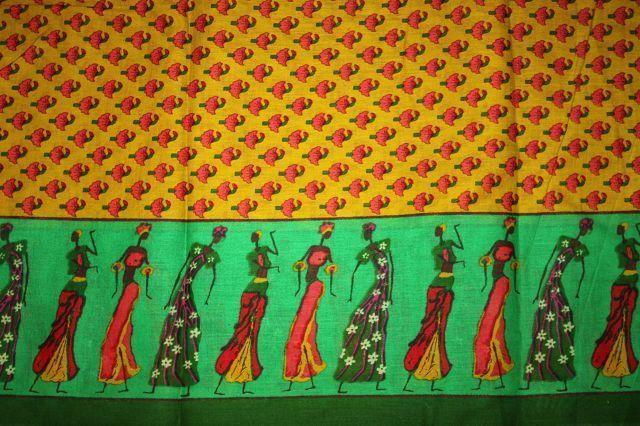 """Baumwolle - """"Umbrella Ladies"""" mustard/gelb von Karlotta Pink auf DaWanda.com"""