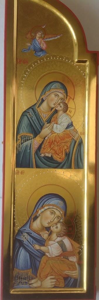 Foto: Trittico della Madre di Dio (particolare, anta sx), 53x16 cm