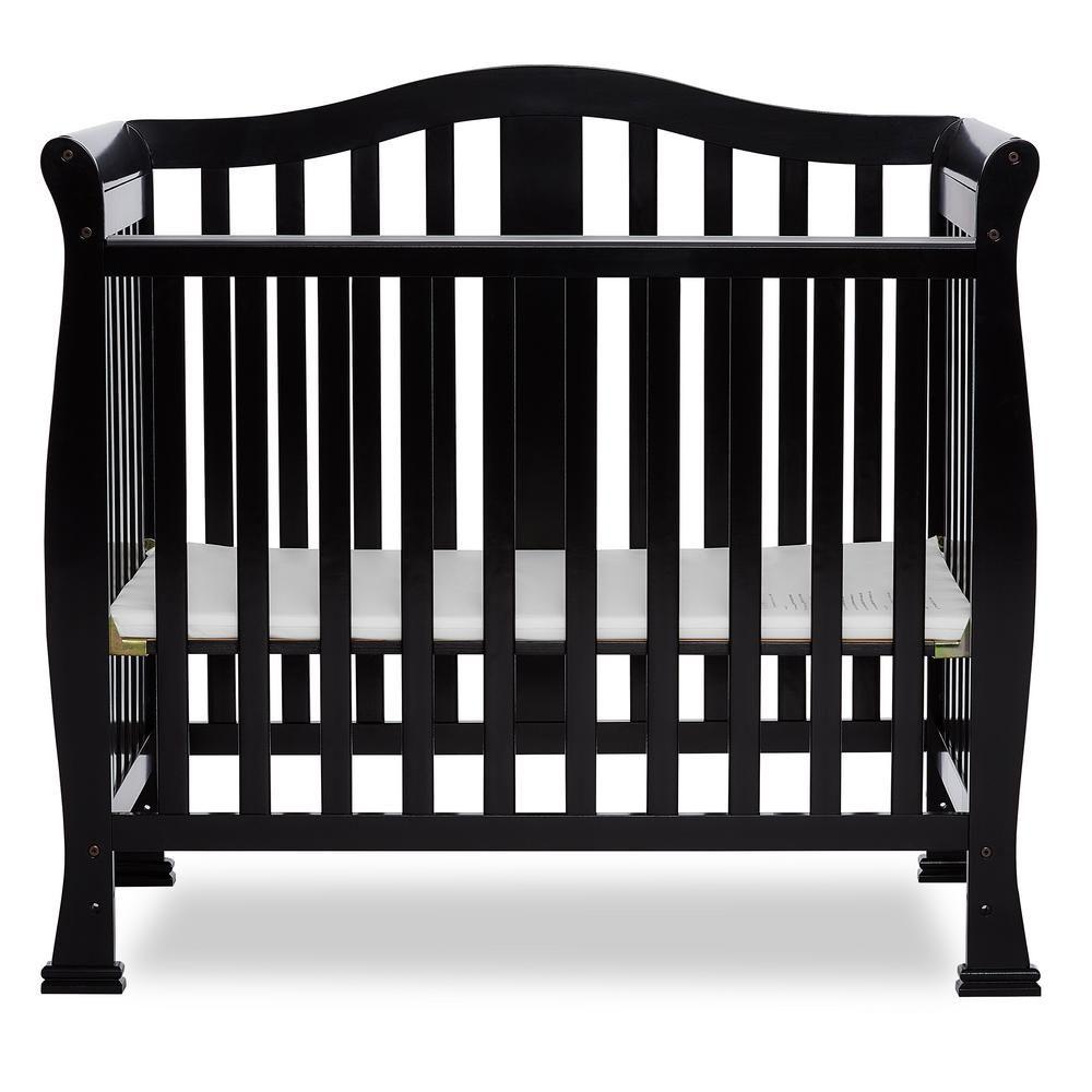 Dream On Me Naples Black 4 In 1 Convertible Mini Crib Mini Crib Cribs Black Crib