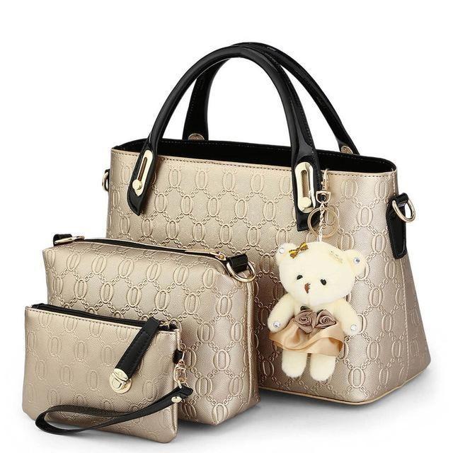 SUNNY SHOP 3 Bags/set W/bear toy