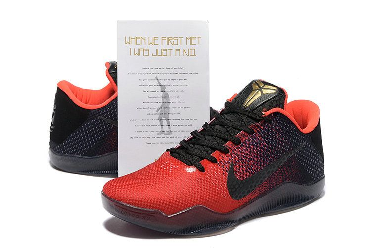 best sneakers dedaa 3314a New Arrival 2018 Kobe 11 XI Flyknit Achilles Heel University Red Black