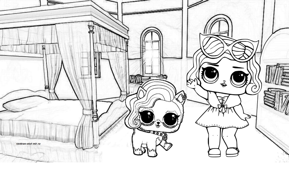 lol surprise dolls coloring pages. print them for free