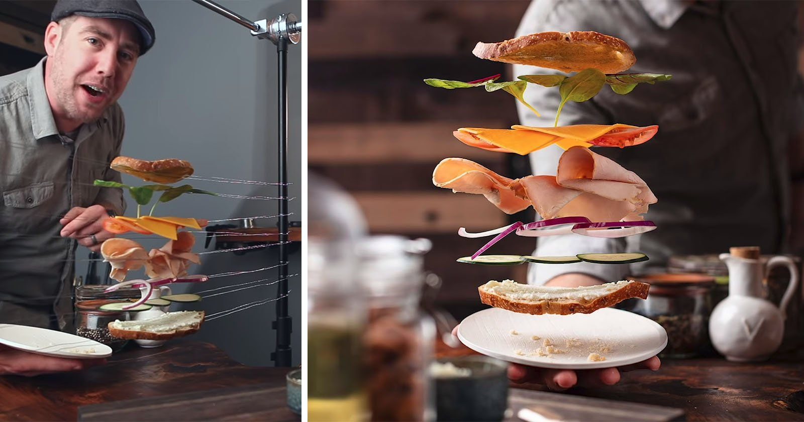 How to shoot photos of flying food flying photography